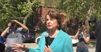 Senator Feinstein implies Trump may have to resign in Q&A with constituents