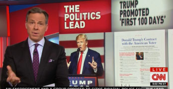 CNN Jake Tapper destroys Trump's 100-day mark with a flip-flop montage (VIDEO)