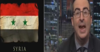 John Oliver rips media & politician orgasmic reaction to Trump Syria attack (VIDEO)