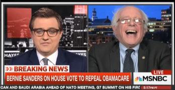 Bernie Sanders cracks up as Trump praises Australian Universal healthcare after passage of his evil bill