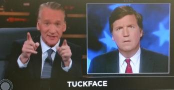 Bill Maher makes fun of Tucker Carlson's facial expressions
