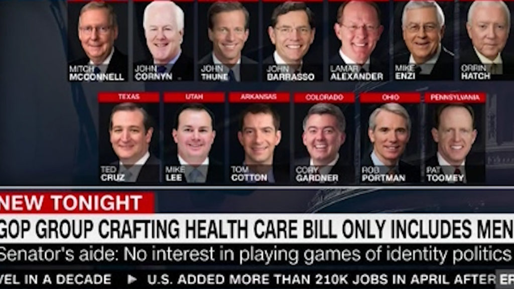 Republicans deciding healthcare in the Senate