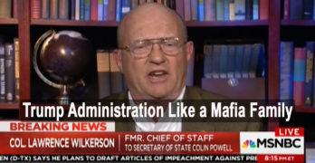 Col. Lawrence Wilkerson Trump like mafia family & should be impeached (VIDEO)
