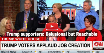 CNN interview with die hard Trump supporter show them delusional but reachable (VIDEO)