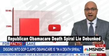 MSNBC Ali Velshi debunks Republican lie that Obamacare is in a death spiral (VIDEO)