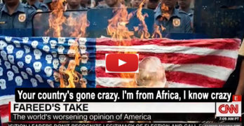 Nigerian to Fareed Zakaria Your country's gone crazy. Im from Africa, I know crazy
