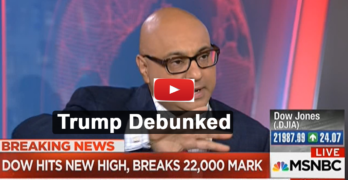 MSNBC Ali Velshi debunks the notion that Trump responsible for stock market rise