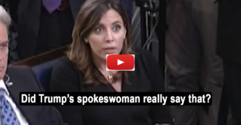 Reporter's hilarious reaction to spokesperson statement on Trump's truthfulness (VIDEO)