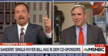 Chuck Todd Medicare for all interview shows he is a corporate shill (VIDEO)