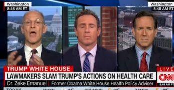 Zeke Emanuel & Rick Santorum go at it over Trump Obamacare sabotage (VIDEO)