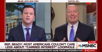 Morning Joe FAIL - Allows GOP Congressman to spin Republican tax cut scam