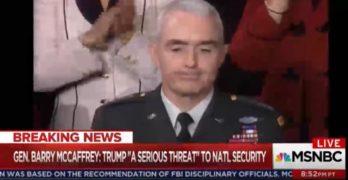 General Barry McCaffrey calls Trump a danger to America