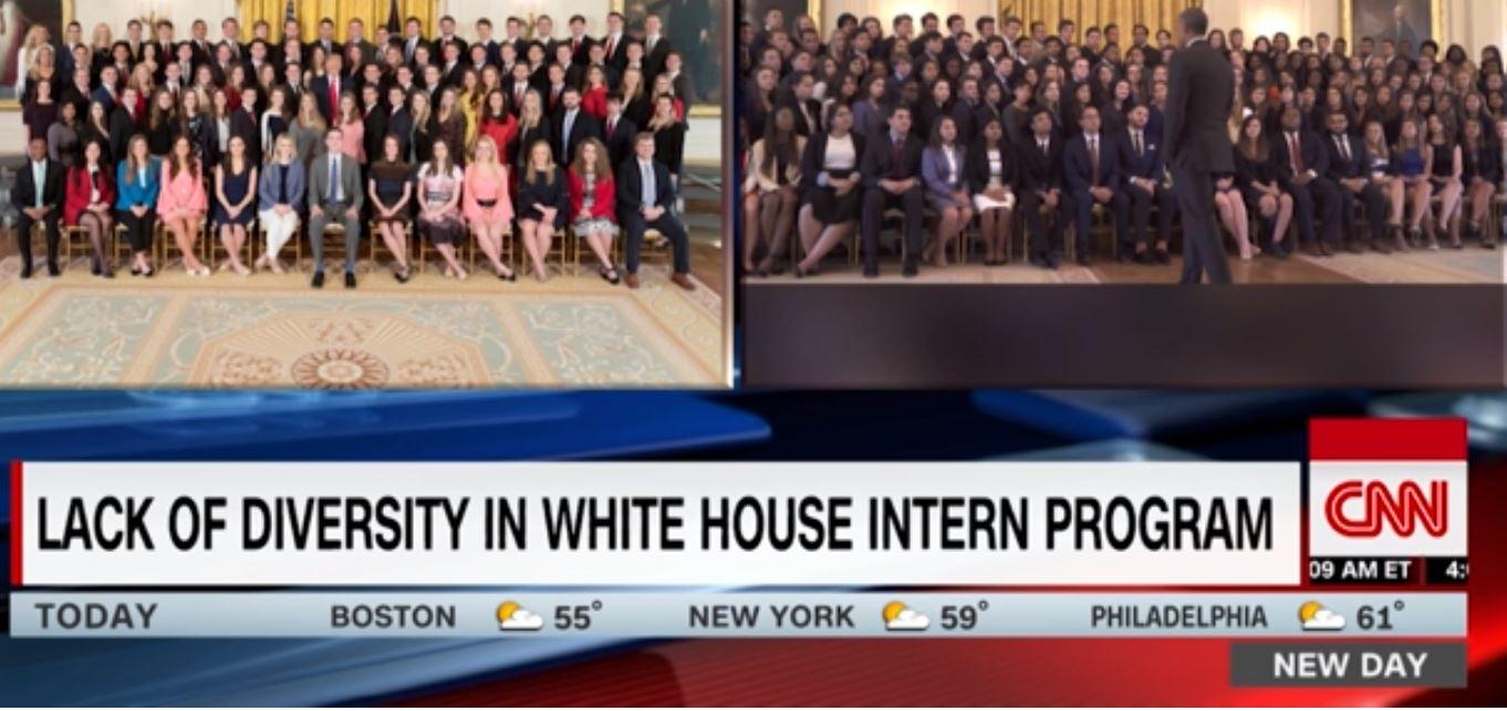 Spring 2018 Interns Trump vs Obama - White vs Diverse