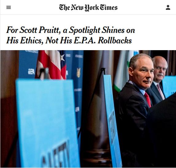 Focus on Pruitt's Scandals Obscures Environmental Degradation Under Trump
