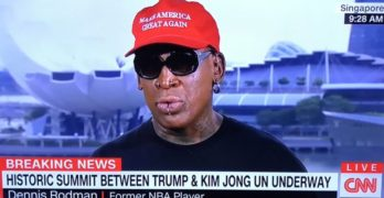 Dennis Rodman crying just about takes credit for Trump/Kim Jong-un summit
