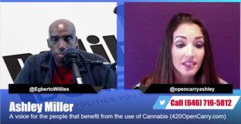 Guest Ashley Miller to discuss an important subject, Marijuana Legalization