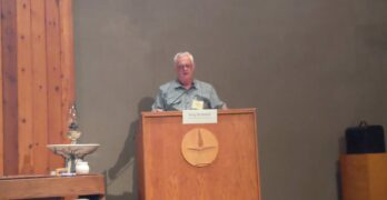 Northwoods Unitarian Universalist Sanctuary Project Coordinator Greg McDonell remarks