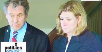 Watch Senator Sherrod Brown show Democrats how to shutdown reporters' false equivalencies