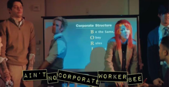 SNL skit illustrates corporate structure self-sustaining by preying on human flaws