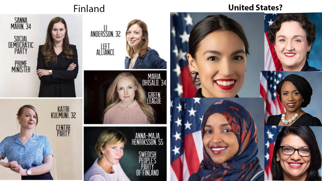 Finland lead by Women. What about the United States of America