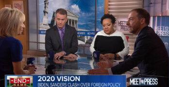 Chuck Todd and MTP panel entertained a Bernie Sanders advantage