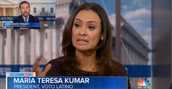 Maria Teresa Kumar Schools Chuck Todd on Sanders' support