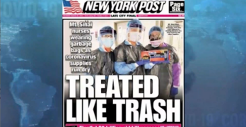 American COVID-19 Capitalism: Trash bags for doctors & medical personnel protective clothing.
