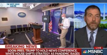 Chuck Todd mercilessly slams Trump before COVID presser.