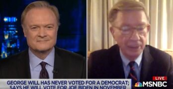 George Will slams Trump as he says he commits to Biden