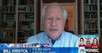 "Conservative Bill Kristol wants Republican Party destroyed. ""I am a Democrat for 2020."""