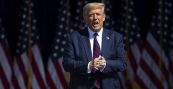 'Hello, America' - Team Trump checks in remotely