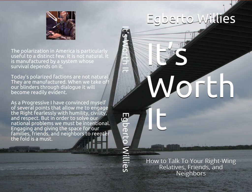 It's Worth It - How to Talk To Your Right-Wing Relatives, Friends, and Neighbors on blanket (Full Cover)