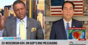 MSNBC Host Craig Melvin slams Scott Walker for an administration in a false reality