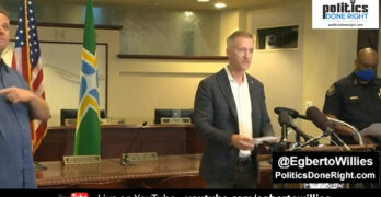 Portland Mayor Ted Wheeler challenged Donald Trump