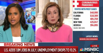 Pelosi hits back at MSNBC host about negotiations 'It's not just about dollars. It's about values'