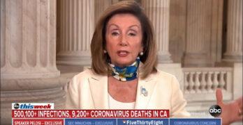 Pelosi schools CBS host as she tried to slam Democratic governor on COVID-19 resurgence