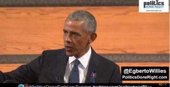 President Obama at John Lewis funeral