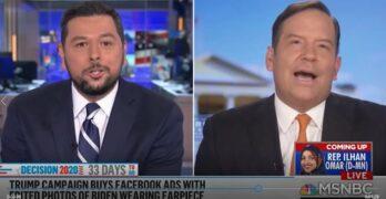 THIS IS HOW IT'S DONE! MSNBC Ayman Mohyeldin destroys Trump spokesman lying about Biden earpiece.