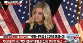 Fox News cuts off & break out of lying Trump Election 2020 news conference