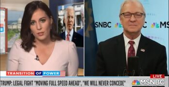 MSNBC Hallie Jackson destroys Trump enabling Sen. Kevin Cramer (R-ND) for election charade.