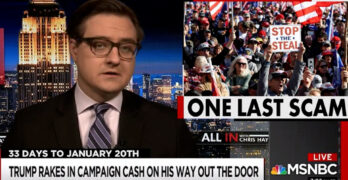 Chris Hayes exposes how the Trump machine seems to be ripping off it's Right Wing donors