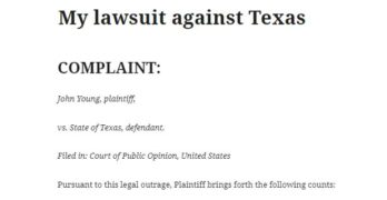 My lawsuit against Texas