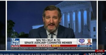 Ted Cruz, Harvard & Princeton educated, wants the Supreme Court to decide election 2020 on Hannity.
