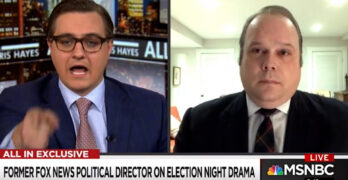 Chris Hayes grills former Fox News Political Director - You're network fed substantive lies