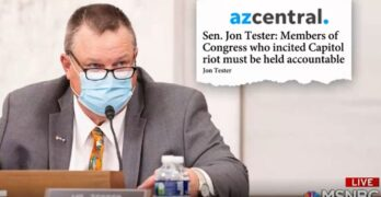 Senator Tester makes it clear he could support Ted Cruz & Josh Hawley's expulsion from Senate