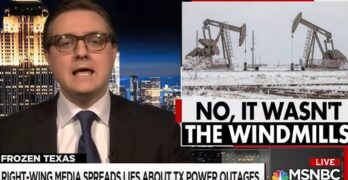 Chris Hayes exposes Texas politicians & Right-Wing Media for lying about green energy and Texas grid