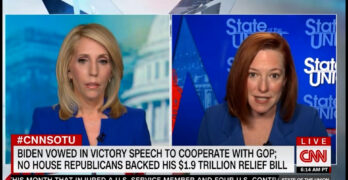 Jen Psaki squashes mainstream media attempt the Republican narrative on the COVID Relief Bill