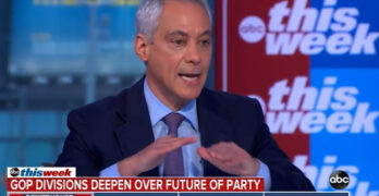 Rahm Emanuel slams Christie on GOP racism- I will not be lectured by you on anti-Semitism