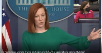 Jen Psaki disses Donald Trump on helping with COVID vaccinations with a tactful slash.