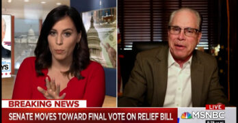 This! Hallie Jackson blows holes into Republican Senator Brauns' COVID bill objections in real time